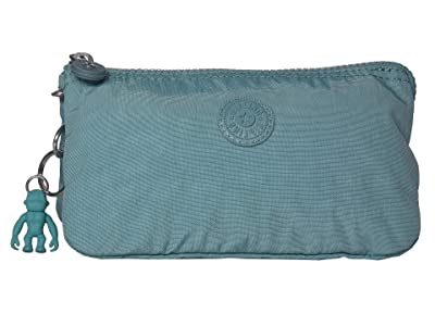 Kipling Creativity Large Pouch (Aqua Frost) Clutch Handbags