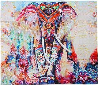 VORCOOL Indian Mandala Tapestry Colorful Elephant Printing Toallas de Playa Yoga Mat Sun Block Bikini Cover-Up Manta 150 x...