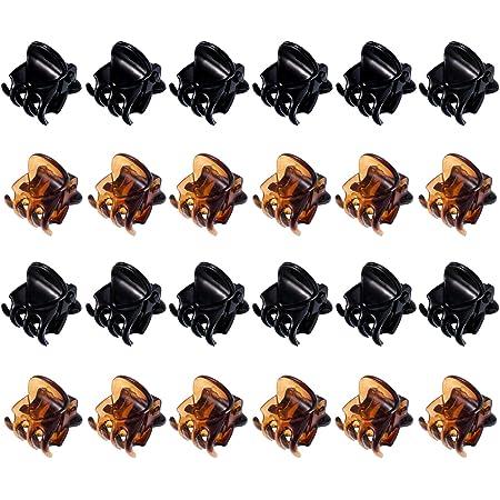 Pack of 12pcs Women Mini Small Bulldog Hair Clips Claws Clamp Hair Accessory