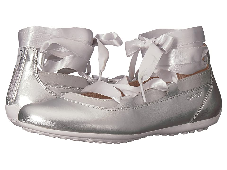 Geox Kids Piuma 64 (Big Kid) (Silver) Girl