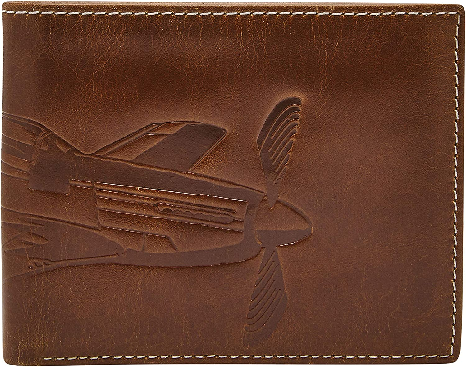 Fossil Men's Danny Embossed Bifold 35% OFF Wallet L-Zip Leather Directly managed store