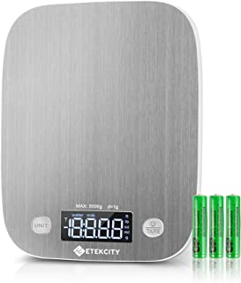 Etekcity Food Scale, Digital Kitchen Grams and Ounces for Weight Loss, Baking, Cooking, Meal Prep & Keto Diet, Medium, Sta...