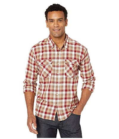 White Sierra Coyote Creek Plaid Shirt (Syrah) Men