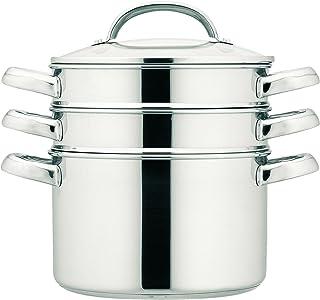 Prestige - Ollas para cocinar al Vapor (apilables, 18 cm, 2,8 litros), Acero