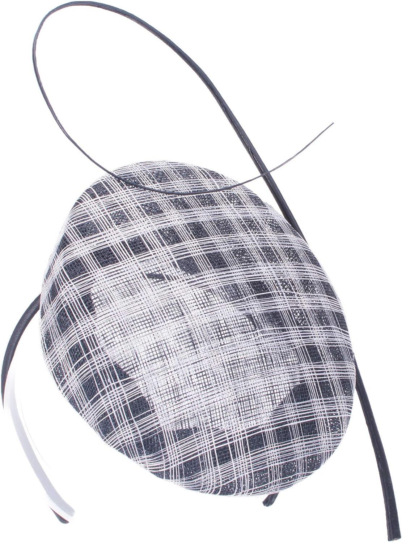 Lawliet Teardrop Women Kentucky Derby Sinamay Fascinator Wedding Hat Headpiece T437
