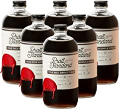 Pratt Standard Cocktail Company Old Fashioned Rich Simple Syrup for Cocktails, 16 oz, Pack of 6