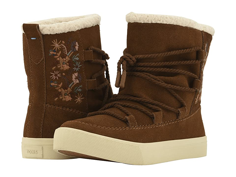 TOMS Alpine Water-Resistant Boot (Dark Amber Suede/Faux Sherling) Women