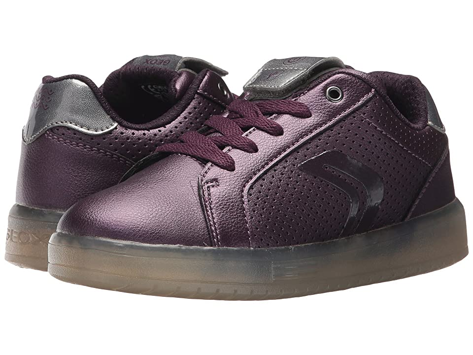 a2272635af3a49 Geox Kids JR Kommodor Girl 1 (Little Kid Big Kid) (Prune Dark Silver) Girl s  Shoes