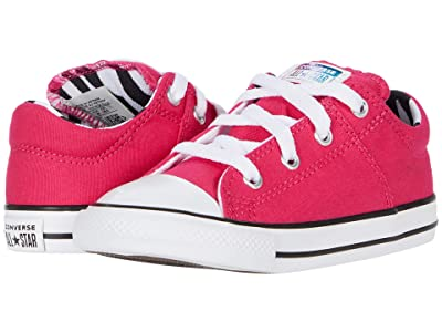 Converse Kids Chuck Taylor(r) All Star(r) Madison Zebra Ox (Infant/Toddler) (Cerise Pink/Black/White) Girl