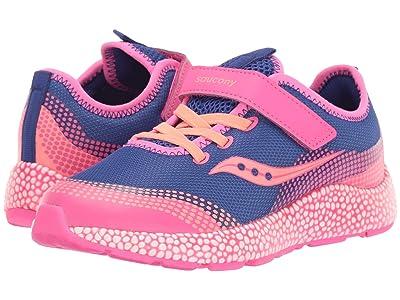 Saucony Kids S-Astrofoam (Little Kid/Big Kid) (Blue/Pink) Girls Shoes