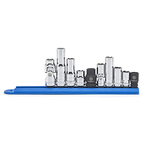 """GEARWRENCH 10 Pc. 1/4"""" & 3/8"""" Drive 6 Point 10mm Socket Set - 80319"""