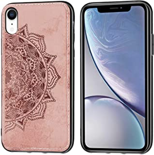 Case Compatible with Phone XR Case-3D Fabric Flower Slim Fit TPU,and Polycarbonate Protective Anti-Scratch Shock Absorptio...