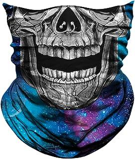 AXBXCX Skull Skeleton Face Mask Ghost Neck Gaiter Headband Raves Halloween