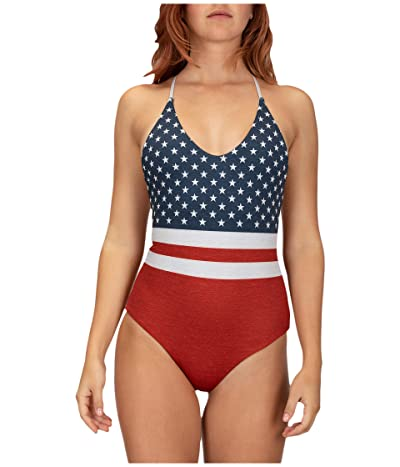 Hurley Reversible True Blue One-Piece (Gym Red) Women