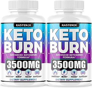 Keto Diet Pills - (2-Pack   120 Capsules) - Best Keto Pills for Keto Burn & Energy - Perfect Keto Fast BHB Capsules with A...