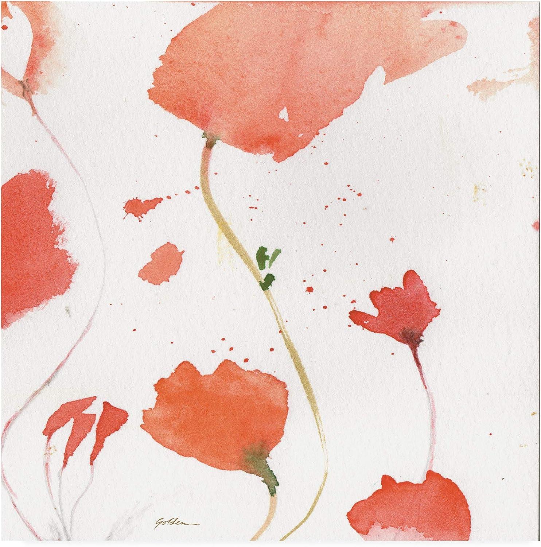 Trademark Fine Art Crimson Poppies Abstract 2