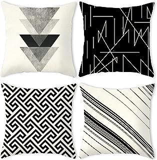 30x50cm Noir Blanc Géométrique Housse de coussin canapé Home Decor Carte Taie d/'oreiller en vrac