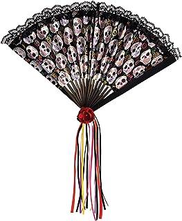 Amscan 843935-55 Dag van de Dode Halloween Fan, Zwart