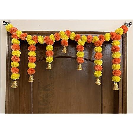 SPHINX Artificial Marigold Door Toran (Yellow and Dark Orange )