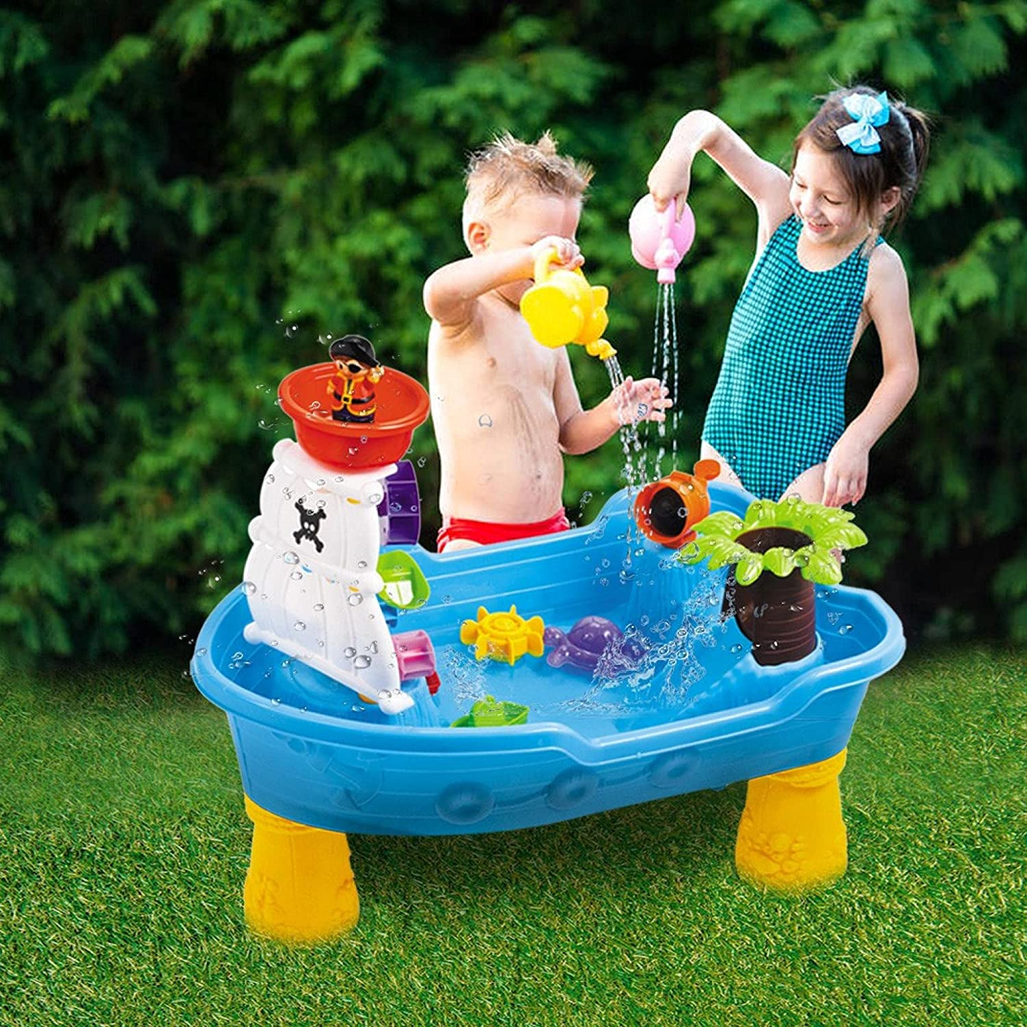 Huokan Kids Directly managed store Play Water Center for Pirate Seasonal Wrap Introduction Sand Ship Table