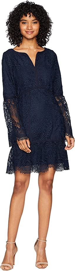Tulsa Guipure Lace Bell Sleeve Dress