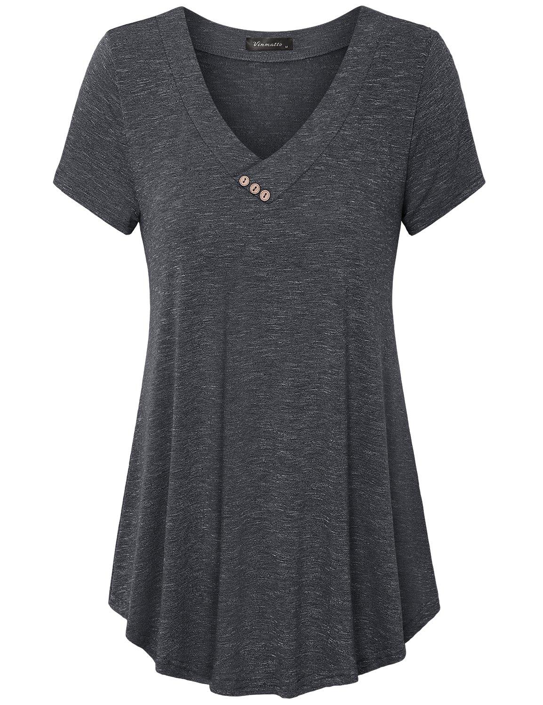 Neck Flowy Plus Size Tunic Top