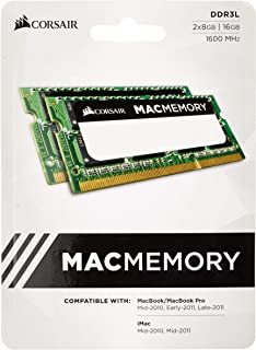 Corsair CMSA16GX3M2A1600C11 Apple Certified 16 GB (2x8 GB) DDR3 1600MHz (PC3 12800) Laptop Memory 1.35V