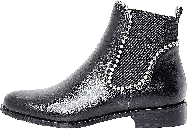 Faina Hochwertige Chelsea Stiefel mit Perlen Applikation Damen 52002467