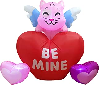 Joiedomi 6 FT Long 5 FT Tall Kitty on Hearts Valentine Holiday Inflatable Yard Decoration