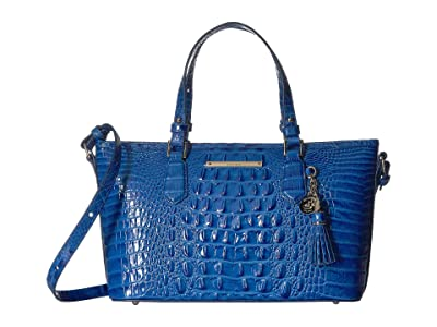 Brahmin Melbourne Mini Asher Bag (Cobalt) Handbags