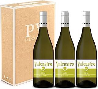 Vino Blanco Ribeiro 100% Gallego pack estuche 3 botellas VALCASTRO 75cl cosecha 2019.
