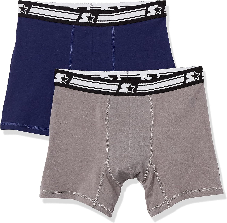 Starter Men's 2-Pack Stretch Performance Cotton Boxer Brief, Amazon Exclusive