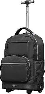"Olympia Melody 19"" Rolling Backpack, Black"