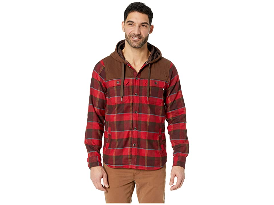 Marmot Silos Heavyweight Flannel Long Sleeve (Burgundy/Rich Brown) Men
