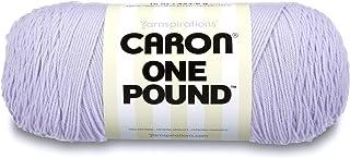 Caron One Pound Solids Yarn, 16oz, Gauge 4 Medium, 100% Acrylic - Lilac- For Crochet, Knitting & Crafting (1 Piece)