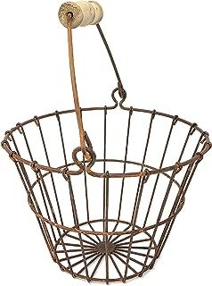 primitive wire egg basket