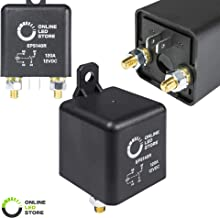 ONLINE LED STORE 12V DC 120 Amp Split Charge Relay Switch - 4 Terminal Relays for Truck Boat Marine