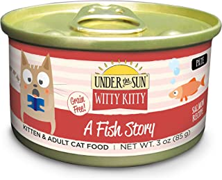 Canidae Under The Sun Witty Kitty: A Fish Story Grain Free Cat Wet Food With Salmon, 3 Oz (18-Pack)