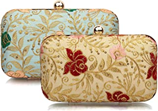Mammon women's clutch Combo set of 2 (2br-rose-GRP)