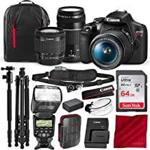 Canon T7 EOS Rebel DSLR Camera with 18-55mm and 75-300mm Lenses Kit and 67
