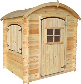 TIMBELA M505-1 Maisonnette en Bois avec Sol en Bois - Maison de Jardin pour Enfants pour l'exterieur - H145 x 105 x 130 cm...