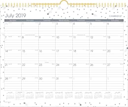 2019-2020 Academic Wall Calendar, Cambridge Monthly Wall Calendar, 15