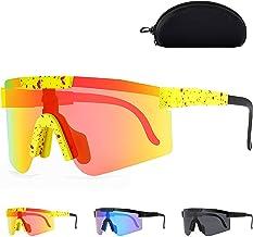 Sportbrillen Fahrrad Brillen Grote Frame Fietsen Zonnebril Kleurrijke Real Film Lens Mode Anti UV Sonnenbrille Polarisiert...