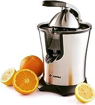 آبمیوه گیری فنجان ضد آب نارنجی Eurolux 160 وات قدرت دستگیره نرم و مخروط مخزن برای استفاده آسان