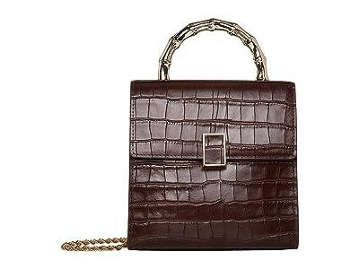 Loeffler Randall Tani Mini Square Crossbody (Dark Brown) Handbags