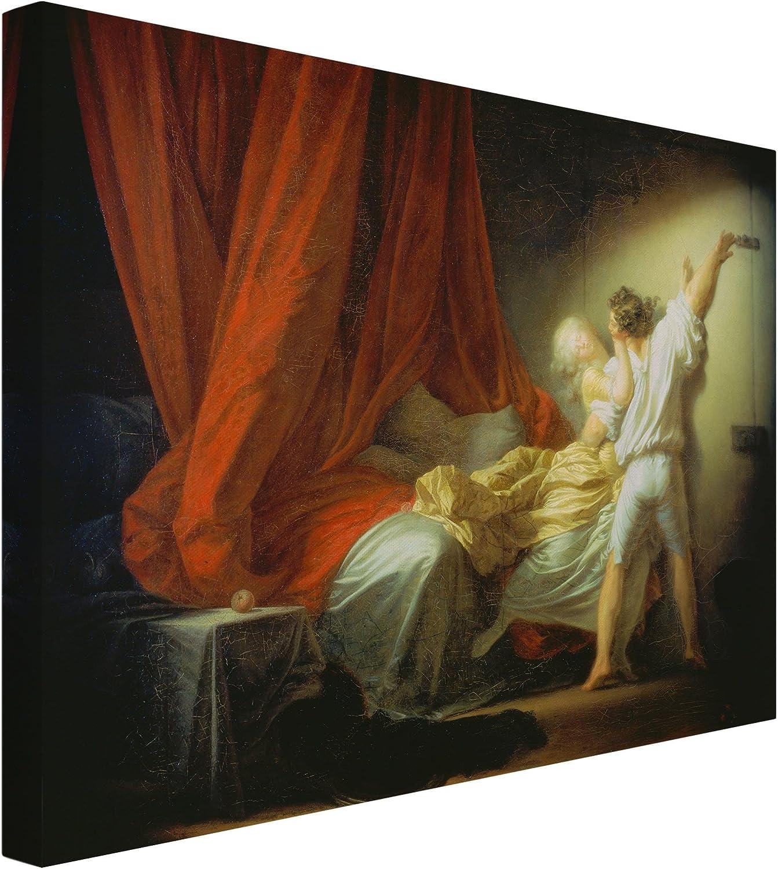 Bilderwelten Leinwandbild - Jean Honoré Fragonard - - - Der Riegel (Liebeswünsche) 3 4, 60 x 80cm B079NN3QVR ec9f78