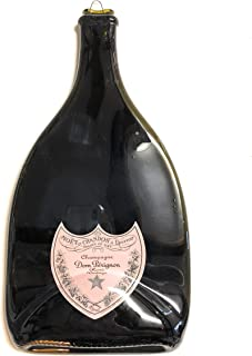 Landfilldzine Dom Perignon Champagne Bottle - Unique Glass Serving Tray, Melted Handmade Wine Gift