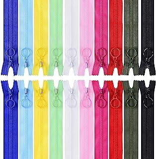 comprar comparacion LegendTech 20 pcs Cremalleras Multicolor 25Cm Cremallera de Resina Cremalleras de Costura con Anillo de Metal para para Co...