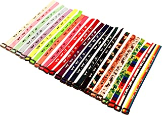 Yleena 50 WWJD Bracelets - What Would Jesus Do Woven Wristbands Per Pack - Religious Christian WWJD Bracelet for fundraisers 23 Colors Perfect for Men Women Boys and Girls
