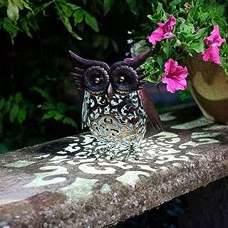 Smart Garden Outdoor Solar LED Garden Light Owl Design, Changing Colour